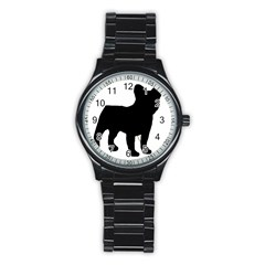 French Bulldog Silo Black Ls Sport Metal Watch (Black)