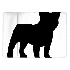French Bulldog Silo Black Ls Samsung Galaxy Tab 10.1  P7500 Flip Case