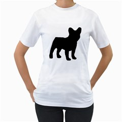 French Bulldog Silo Black Ls Women s T-Shirt (White)