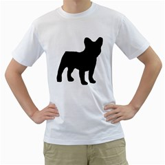 French Bulldog Silo Black Ls Men s T-Shirt (White)