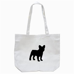 French Bulldog Silo Black Ls Tote Bag (White)