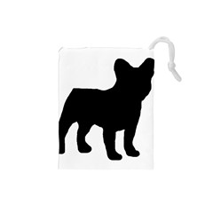 French Bulldog Silo Black Ls Drawstring Pouch (Small)