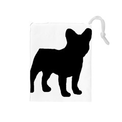 French Bulldog Silo Black Ls Drawstring Pouch (Medium)