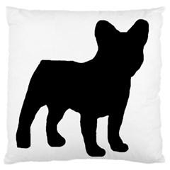 French Bulldog Silo Black Ls Large Flano Cushion Case (One Side)