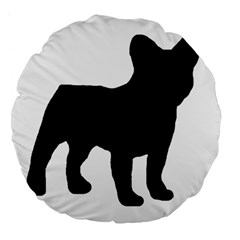 French Bulldog Silo Black Ls Large Flano Round Cushion