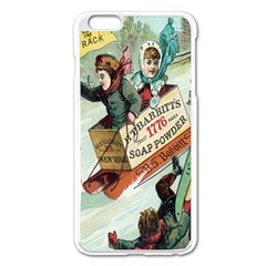 Clear The Track Apple iPhone 6 Plus Enamel White Case
