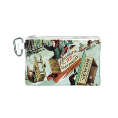 Clear The Track Canvas Cosmetic Bag (Small)
