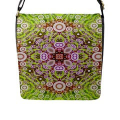 Crazy Abstract Pattern Flap Closure Messenger Bag (large)