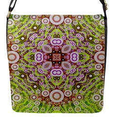 Crazy Abstract Pattern Flap Closure Messenger Bag (small)