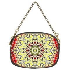 Red Yellow Kielidescope  Chain Purse (two Sided)