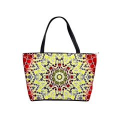 Red Yellow Kielidescope  Large Shoulder Bag