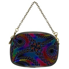 Rainbow Fractal  Chain Purse (two Sided)