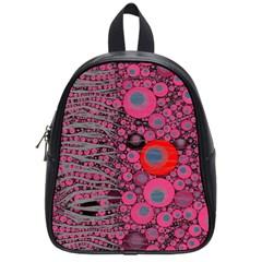 Pink Zebra Abstract School Bag (small)