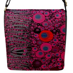 Pink Zebra Abstract Flap Closure Messenger Bag (small)