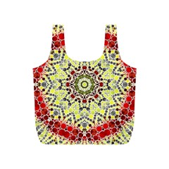 Red Yellow Kielidescope  Reusable Bag (s)