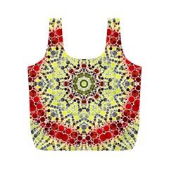 Red Yellow Kielidescope  Reusable Bag (M)