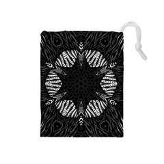 Zebra Cat Paws Pattern Drawstring Pouch (medium)