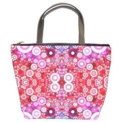 Girly Pink Polkadots  Bucket Handbag