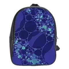 Purple Turquoise Abstract School Bag (xl)