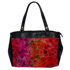Florescent Abstract  Oversize Office Handbag (one Side)