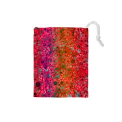 Florescent Abstract  Drawstring Pouch (small)