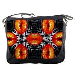 Sassy Lips Zebra  Messenger Bag