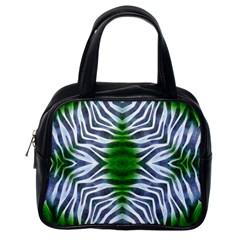 Crazy Zebra  Classic Handbag (one Side)