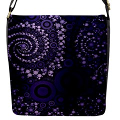 Deep Purple Swirls Removable Flap Cover (small)