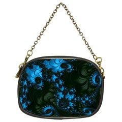 Pretty In Blue  Chain Purse (two Sided)