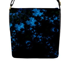 Pretty In Blue  Flap Closure Messenger Bag (Large)