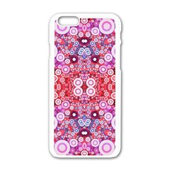 Girly Pink Polkadots  Apple Iphone 6 White Enamel Case