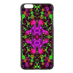 Abstract Florescent Unique  Apple iPhone 6 Plus Black Enamel Case