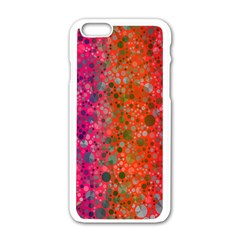Florescent Abstract  Apple Iphone 6 White Enamel Case