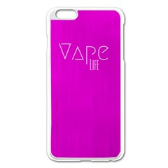 Vape Life Hot Pink Apple Iphone 6 Plus Enamel White Case