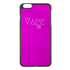 Vape Life Hot Pink Apple iPhone 6 Plus Black Enamel Case