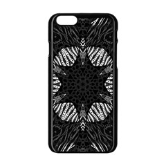Zebra Cat Paws Pattern Apple iPhone 6 Black Enamel Case