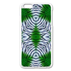 Crazy Zebra  Apple iPhone 6 Plus Enamel White Case