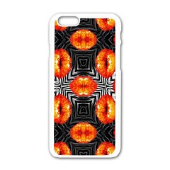 Sassy Lips Zebra  Apple Iphone 6 White Enamel Case