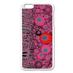 Pink Zebra Abstract Apple Iphone 6 Plus Enamel White Case