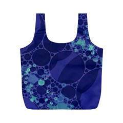 Purple Turquoise Abstract Reusable Bag (M)