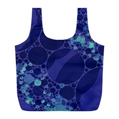 Purple Turquoise Abstract Reusable Bag (L)