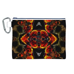 Lava Rocks  Canvas Cosmetic Bag (Large)