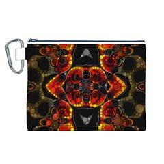 Lava Rocks  Canvas Cosmetic Bag (large)