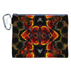 Lava Rocks  Canvas Cosmetic Bag (XXL)
