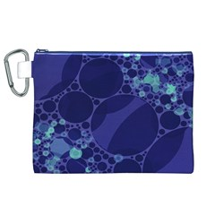 Purple Turquoise Abstract Canvas Cosmetic Bag (XL)