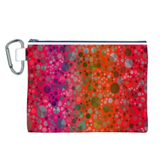 Florescent Abstract  Canvas Cosmetic Bag (Large)