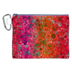 Florescent Abstract  Canvas Cosmetic Bag (XXL)