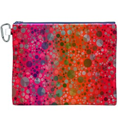 Florescent Abstract  Canvas Cosmetic Bag (XXXL)