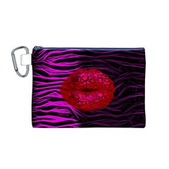 Sassy Lips Cheetah Canvas Cosmetic Bag (Medium)