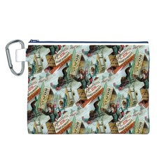 Clear The Track Canvas Cosmetic Bag (Large)